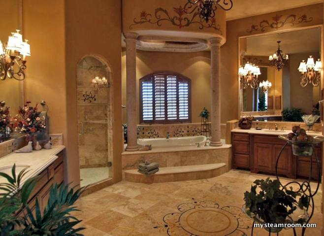 Steam shower pictures steam shower reviews designs for Big bathroom