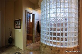 Walk-in Shower and Steam Room