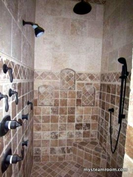 Tile Steam Shower with Jets