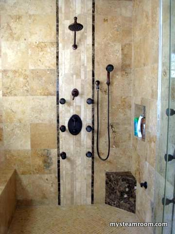 Steam shower pictures steam shower reviews designs for Build steam shower
