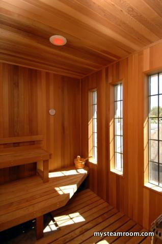 This finnish sauna doubles as a steam room. Our general recommendation is to