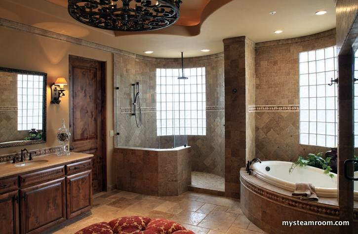 sleek and simple master bathroom shower - Bathrooms Showers Designs