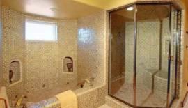 Tile Bathtub and Steam Room