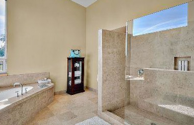 doorless walk in shower design