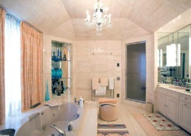 Steam Room and Large Bathroom Design in NYC