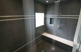 Steam Shower with Dual Ceiling Rain Showers